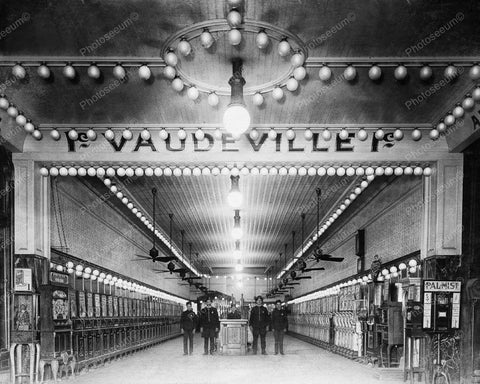 Penny Arcade Vaudeville 1900s 8x10 Reprint Of Old Photo