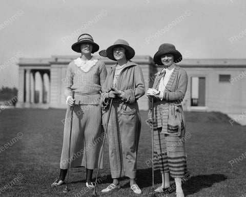Women Golfers 1923 Vintage 8x10 Reprint Of Old Photo
