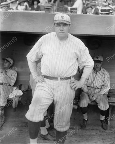 Babe Ruth Basebal Legend New York 1921 Vintage 8x10 Reprint Of Old Photo