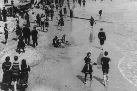 Atlantic City Beach Stroll Scene 4x6 1900s Reprint Of Old Photo