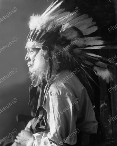 Whirlwind Horse Indian Chief 1900 Vintage 8x10 Reprint Of Old Photo