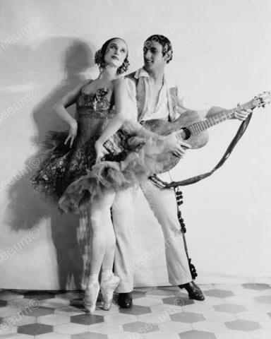 Ballet Dancer Dances To Guitar1925 Vintage 8x10 Reprint Of Old Photo