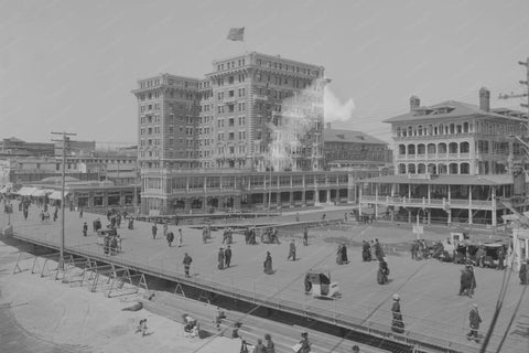 Atlantic City NJ Boardwalk Scene 1920s 4x6 Reprint Of Old Photo