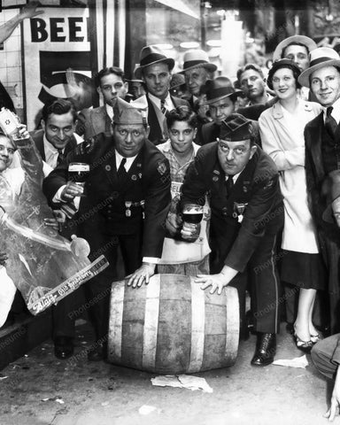 Roll Out The Barrel Prohibition 8x10 Reprint Of Old Photo