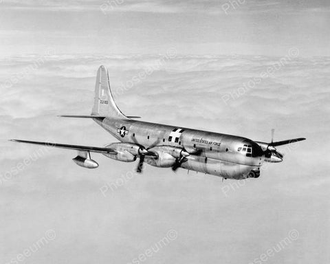 Boeing Turbo Prop C-97 Airplane Vintage 8x10 Reprint Of Old Photo