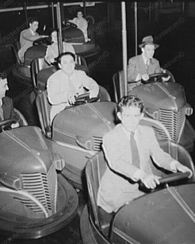 Bumper Car Connecticut Carnival 1940s 8x10 Reprint Of Old Photo
