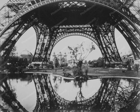 Eiffel Tower Paris Exposition 1880s 8x10 Reprint Of Old Photo