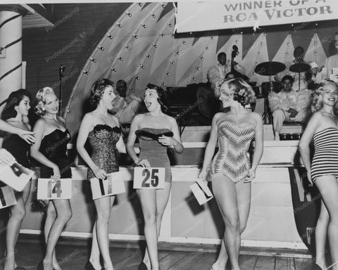 Miss Color TV Beauty Contestants 8x10 Reprint Of Old Photo