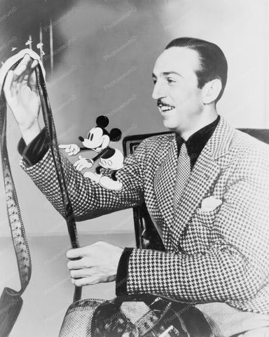 Walt Disney &  Mickey Mouse View Film! 8x10 Reprint Of Old Photo