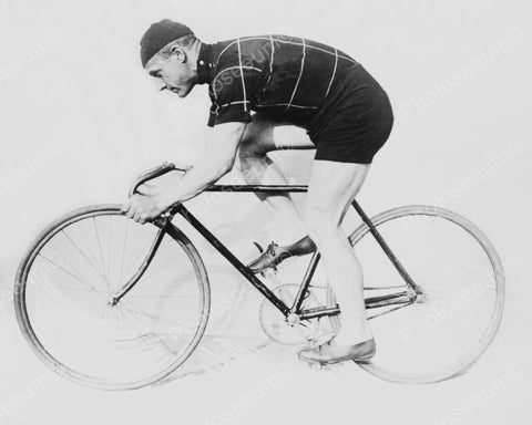 Antique Bicycle Racer 1900s 8x10 Reprint Of Old Photo