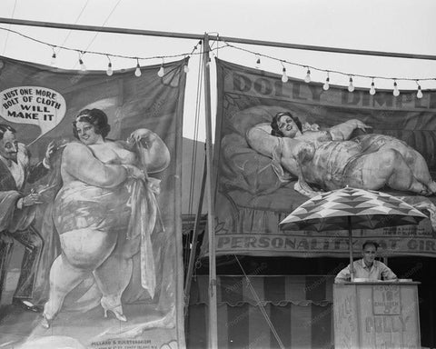 Coney Island Freak Show Dolly Dimple 1930s Old Photo