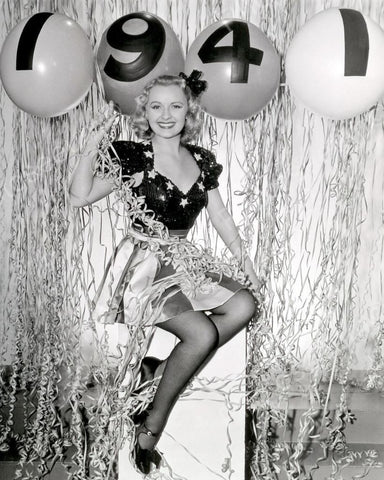 New Years Photoshoot Model 1941 Vintage 8x10 Reprint Of Old Photo