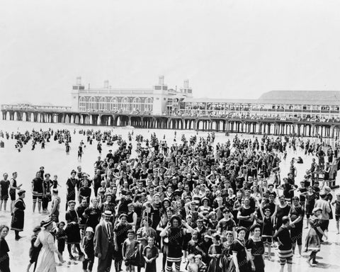 Atlantic City Beach New Jersey 1900s 8x10 Reprint Of Old  Photo