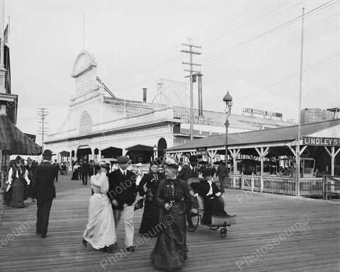 Youngs Ocean Pier Boardwalk Atlantic City 8x10 Reprint Of Old Photo - Photoseeum