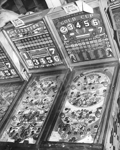 Bally Citation &  Gold Cup Bingo Pinball Games Vintage 8x10 Reprint Of Old Photo