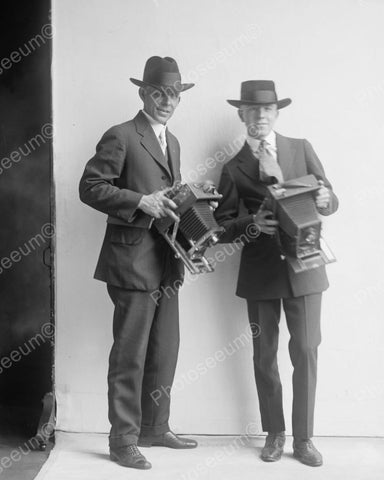 Camera Men 1918 Vintage 8x10 Reprint Of Old Photo