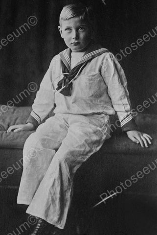 Young Sailor Boy Sits For Portrait 4x6 Reprint Of Old Photo