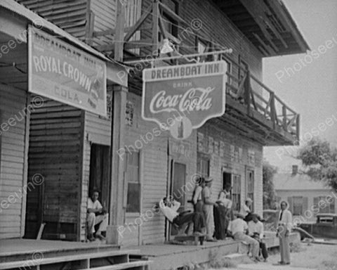 Dreamboat Inn Scene & Coca Cola Sign 8x10 Reprint Of Old Photo