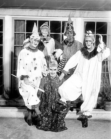 Clowns Gone Mad 8x10 Reprint Of Old Photo