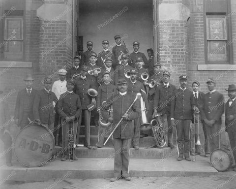 African American Band Portrait 1900s 8x10 Reprint Of Old Photo