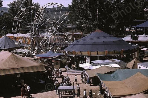 Vermont Fair Midway Ferris Wheel 1940s 4x6 Reprint Of Old Photo