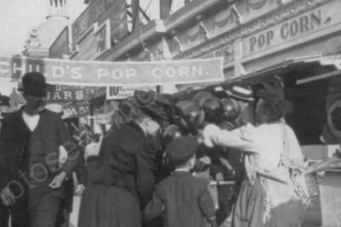 Coney Island Popcorn Stand Luna Park 4x6 Reprint Of 1920 Old Photo - Photoseeum