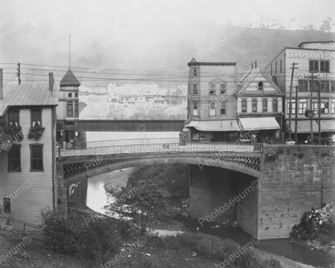 First Iron Bridge Pa USA Scenic Vintage 1910 Reprint 8x10 Old Photo