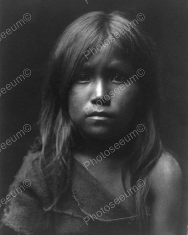 Beautiful Portrait Of Native Indian Girl 8x10 Reprint Of Old Photo