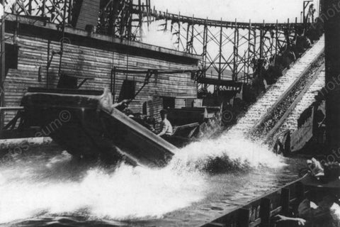 Coney Island Shooting Rapids Ride 1900s 4x6 Reprint Of Old Photo - Photoseeum
