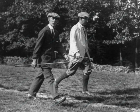 Distinguished Golfers Stroll 1909 Vintage 8x10 Reprint Of Old Photo - Photoseeum