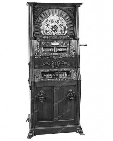 Mills Duplex Upright Slot Machine 25 Cent Model 8x10 Reprint Of Old Photo