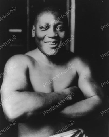 Boxer Jack Johnson 1915 Vintage 8x10 Reprint Of Old Photo