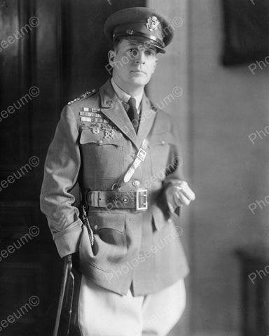 Douglas MacArthur General 1940's Vintage 8x10 Reprint Of Old Photo