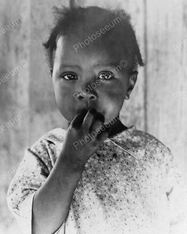 Young African American Girl 1937 Vintage 8x10 Reprint Of Old Photo - Photoseeum