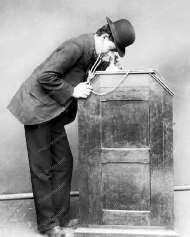 Kinetophonebis 1895 CoinOp Movie Projector Vintage 8x10 Reprint Of Old Photo