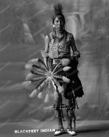 Black Feet Indian 1900 Vintage 8x10 Reprint Of Old Photo