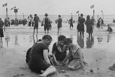 Coney Island Beach & Sand Scene 1900s 4x6 Reprint Of Old Photo