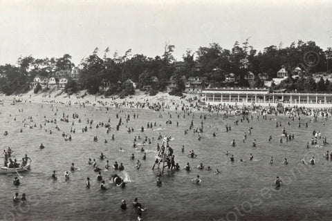 Crystal Beach Ontario Swimming 1910s 4x6 Reprint Of Old Photo - Photoseeum