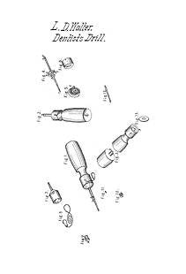 USA Patent Dental Drill 1840's Dentistry Drawings