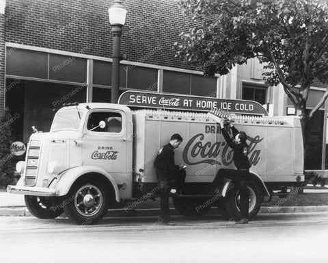 Coca Cola Soda Truck Vintage 1950's 8x10 Reprint Of Old Photo