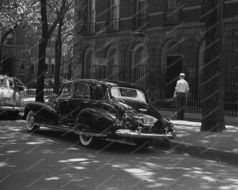 Black Cadillac 1940s On Chicago Street 8x10 Reprint Of Old Photo