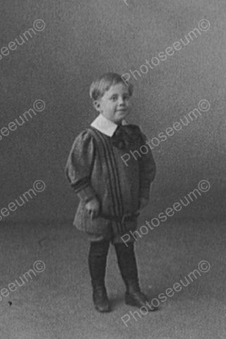 Victorian Small Boy In Formal Attire 1800 4x6 Reprint Of Old Photo