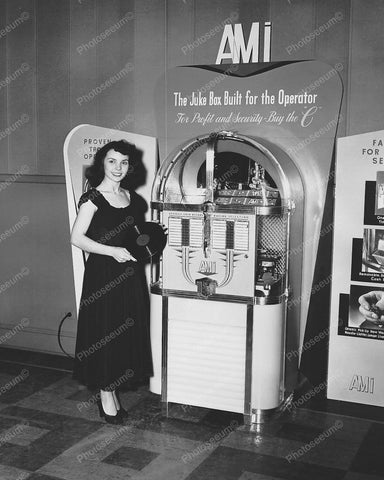 AMI Model C Jukebox 8x10 Reprint Of Old Photo