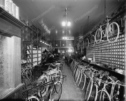 Bicycle Shop 1920 Vintage 8x10 Reprint Of Old Photo 1