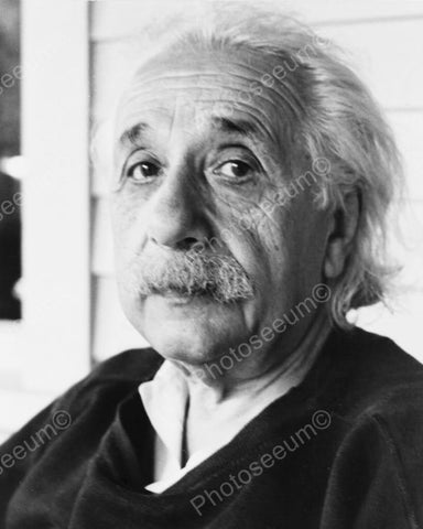 Albert Einstein Vintage Close Up 1900s 8x10 Reprint Of Old Photo - Photoseeum