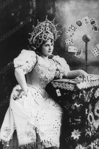 Lillian Russell Fortune Teller 1920s 4x6 Reprint Of Old Photo