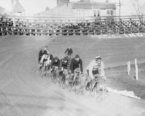 Cyclists Practice Pedalling 6-Day Race 1909 Vintage 8x10 Reprint Of Old Photo