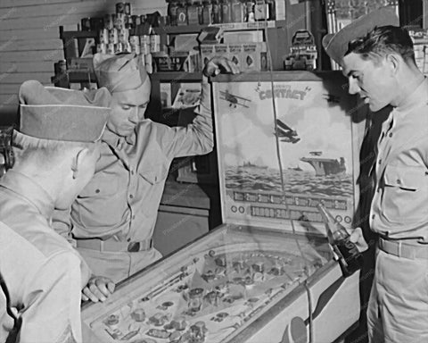 Exhibit Contact 1939 Pinball Woodrail Arcade 8x10 Reprint Of Photo