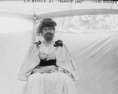 CA Arthur Bearded Lady Society Circus 8x10 Reprint Of Old Photo