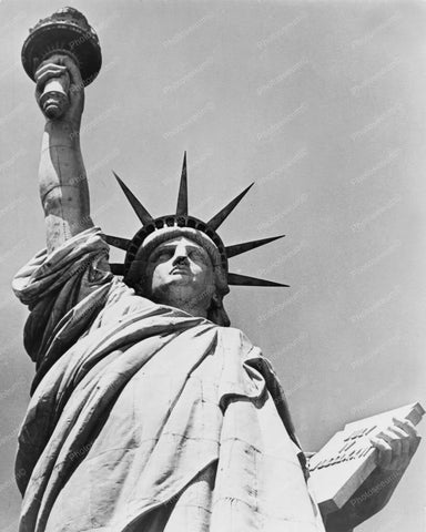 Statue Of Liberty Up Close 8x10 Reprint Of Old Photo